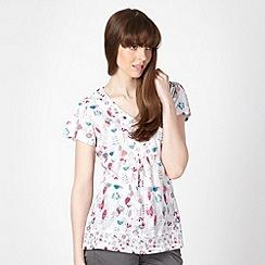 Mantaray - White blossom printed t-shirt