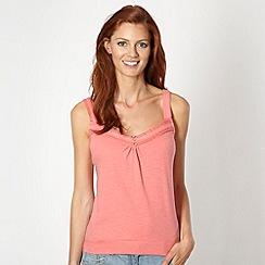Mantaray - Pink crochet trim camisole
