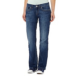 Mantaray - Blue washed bootcut jeans