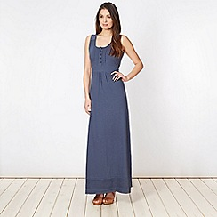 Mantaray - Navy plain jersey maxi dress
