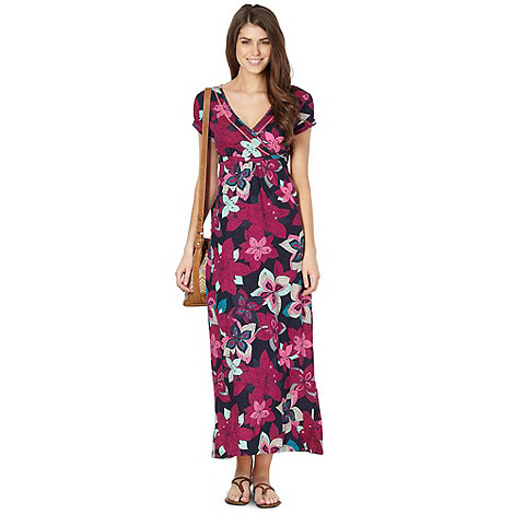 Mantaray - Navy floral jersey maxi dress