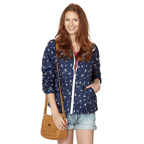 Mantaray - Navy bird print parka jacket