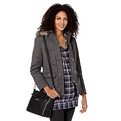 Mantaray - Grey short padded parka jacket