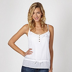 Mantaray - White geometric burnout camisole
