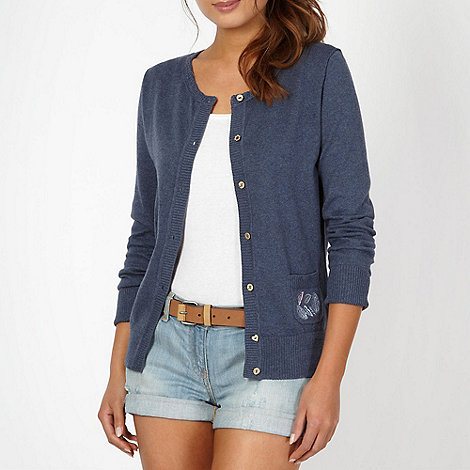 Mantaray - Navy embroidered cardigan