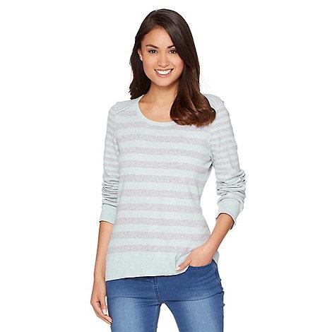 Mantaray - Pale green striped jumper