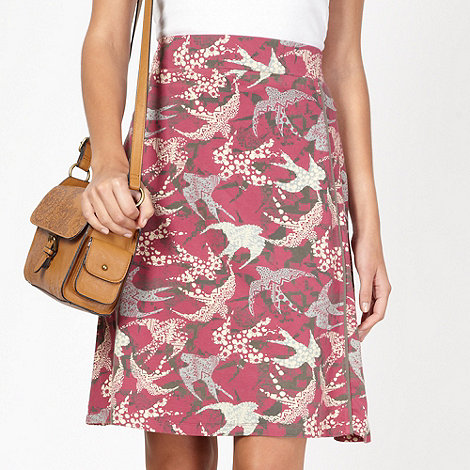 Mantaray - Rose bird printed jersey skirt