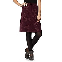 Mantaray - Plum acorn cord skirt