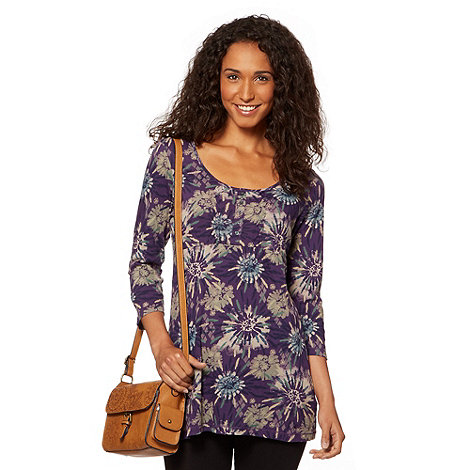 MANTARAY - Purple floral patterned tunic