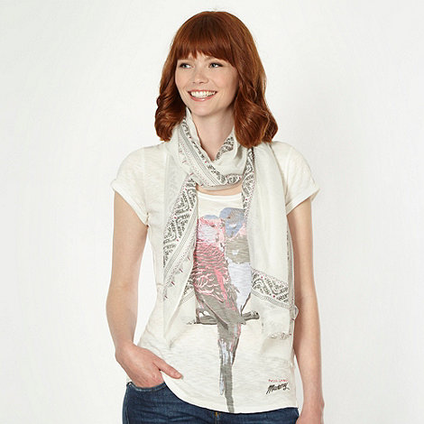 Mantaray - White budgie t-shirt and scarf set