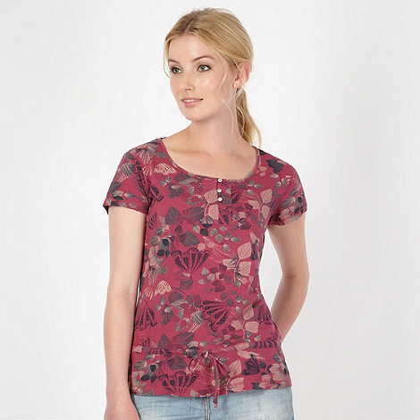 Mantaray - Rose leaf printed top