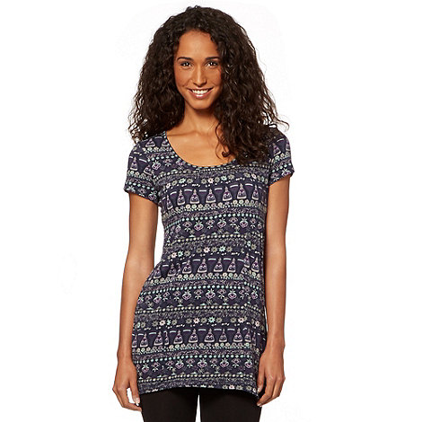 MANTARAY - Navy buttercup printed tunic