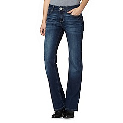 Mantaray - Dark blue wash bootcut jeans
