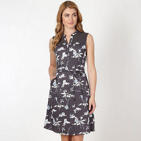 Mantaray - Dark grey kite print shirt dress