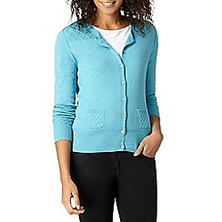 Mantaray - Turquoise diamond shoulder cardigan