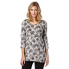 Mantaray - Light grey posy knitted tunic