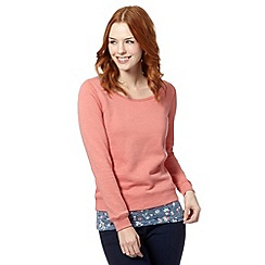 Mantaray - Pink 2-in-1 sweat top and vest