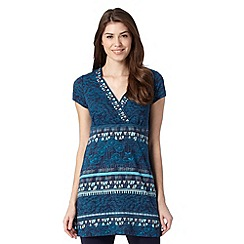 Mantaray - Navy triangle printed tunic