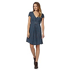 Mantaray - Navy tulip printed tea dress