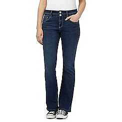 Mantaray - Indigo wash shape enhancing high-waisted bootcut jeans