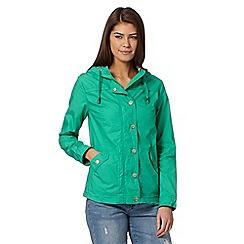 Mantaray - Dark green floral lined mac coat
