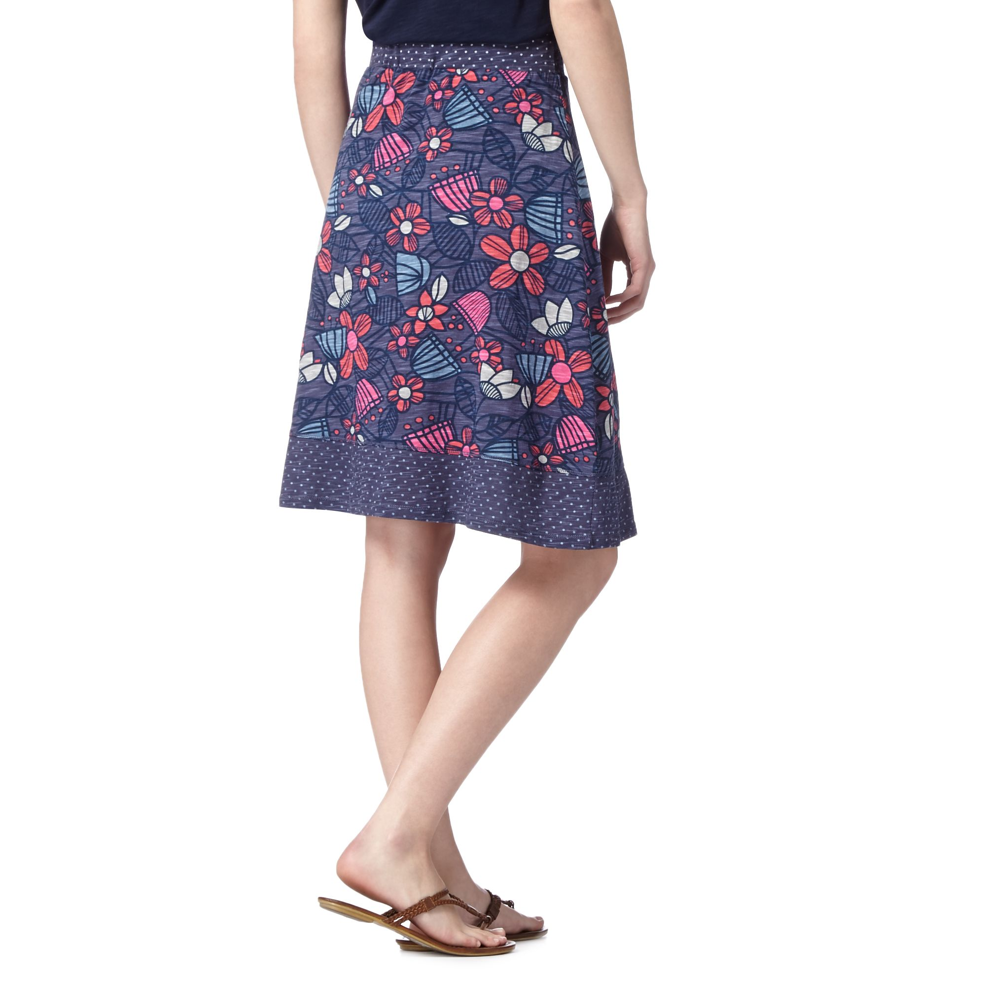 mantaray navy batik floral skirt from debenhams