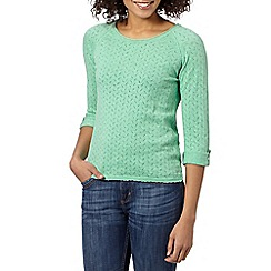 Mantaray - Green pointelle knitted jumper