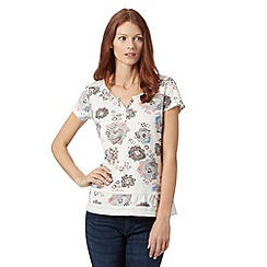 Mantaray - White kaleidoscope floral t-shirt