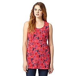 Mantaray - Dark pink floral fern tunic