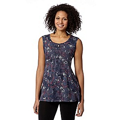 Mantaray - Navy shell print tunic top