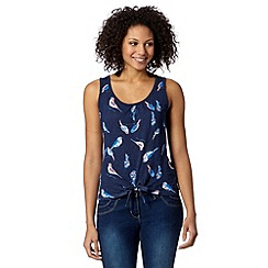 Mantaray - Navy bird print vest