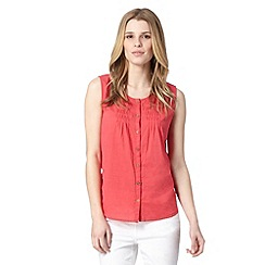 Mantaray - Dark pink plain vest top