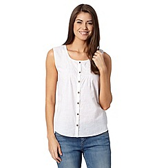 Mantaray - White button vest