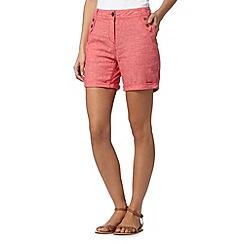 Mantaray - Dark pink crosshatch shorts