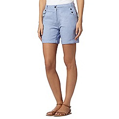 Mantaray - Light blue crosshatch shorts