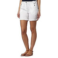 Mantaray - White crosshatch shorts