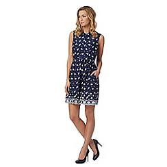 Mantaray - Navy boat print dress