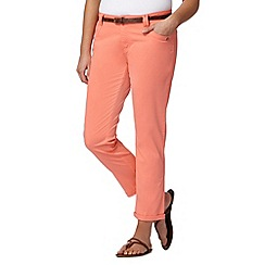 Mantaray - Bright peach belted cropped chinos