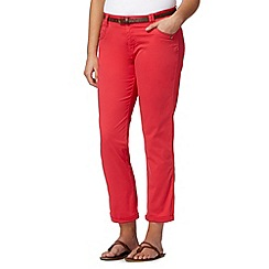 Mantaray - Bright pink belted cropped chinos