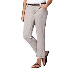 Mantaray - Natural belted cropped chinos