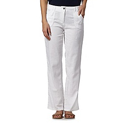 Mantaray - White crosshatch trousers