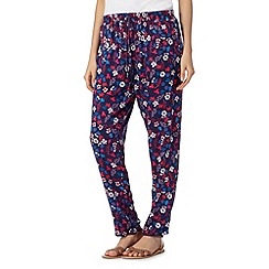 Mantaray - Navy floral trousers