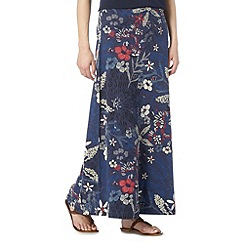 Mantaray - Navy exploding flower maxi skirt