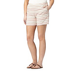 Mantaray - Light pink striped jacquard shorts