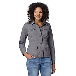 Mantaray - Grey linen four pocket jacket