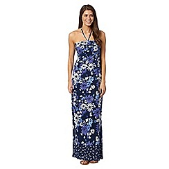 Mantaray - Navy bandeau print maxi dress