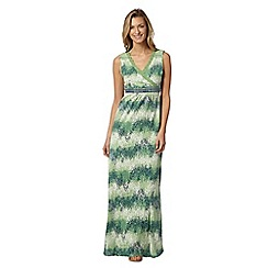 Mantaray - Green floral broderie self tie maxi dress