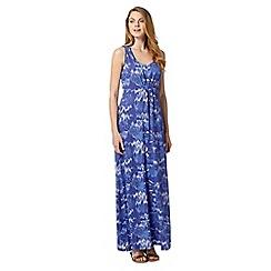 Mantaray - Blue sleeveless crochet back maxi dress