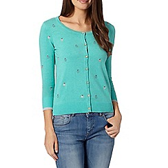 Mantaray - Green apple embroidered cardigan