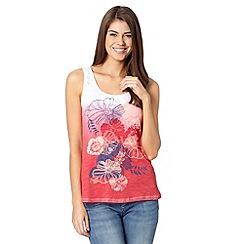 Mantaray - Pink dip dyed floral vest